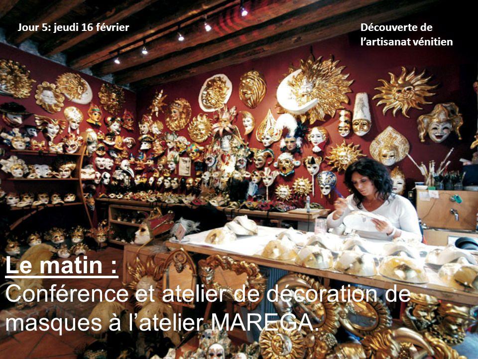 Conférence et atelier de décoration de masques à l'atelier MAREGA.