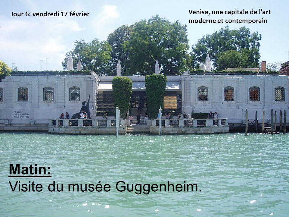 Visite du musée Guggenheim.