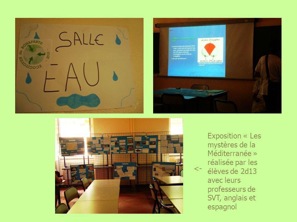 Exposition « Les mystères de la Méditerranée » réalisée par les élèves de 2d13 avec leurs professeurs de SVT, anglais et espagnol