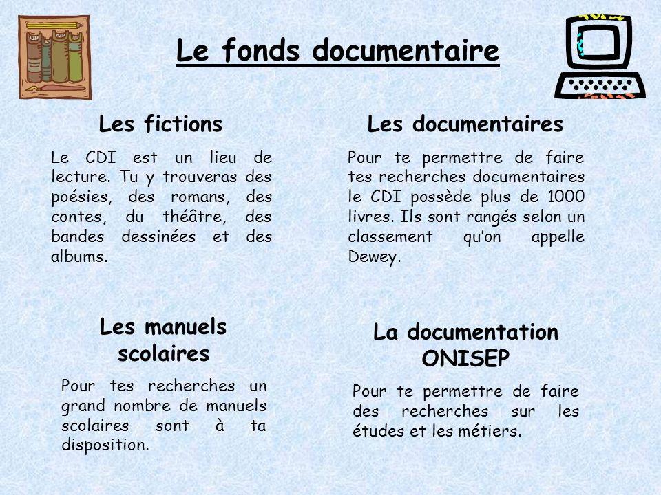 La documentation ONISEP