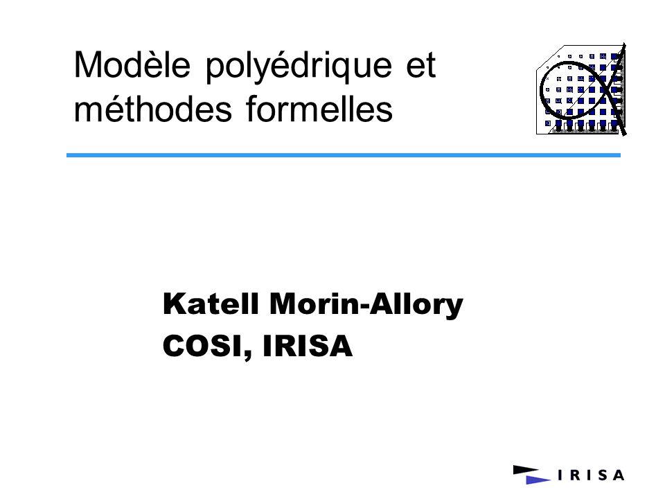 Modèle polyédrique et méthodes formelles
