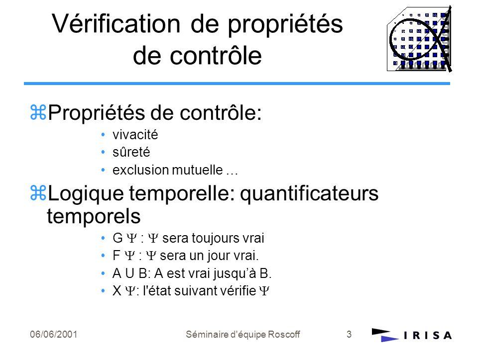 Vérification de propriétés de contrôle