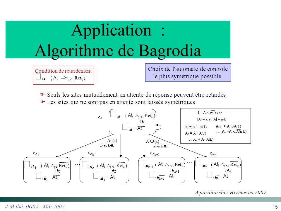 Application : Algorithme de Bagrodia