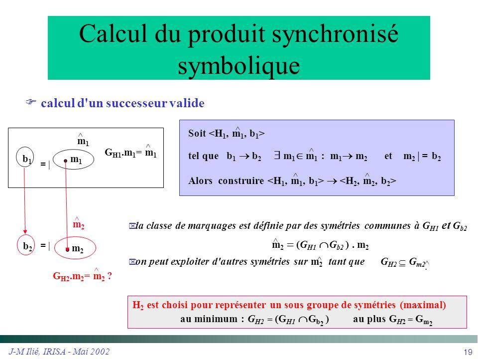 Calcul du produit synchronisé symbolique
