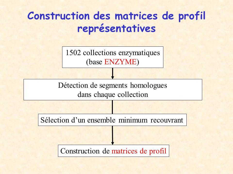 Construction des matrices de profil représentatives
