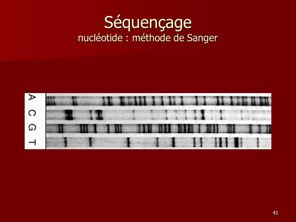 Séquençage nucléotide : méthode de Sanger