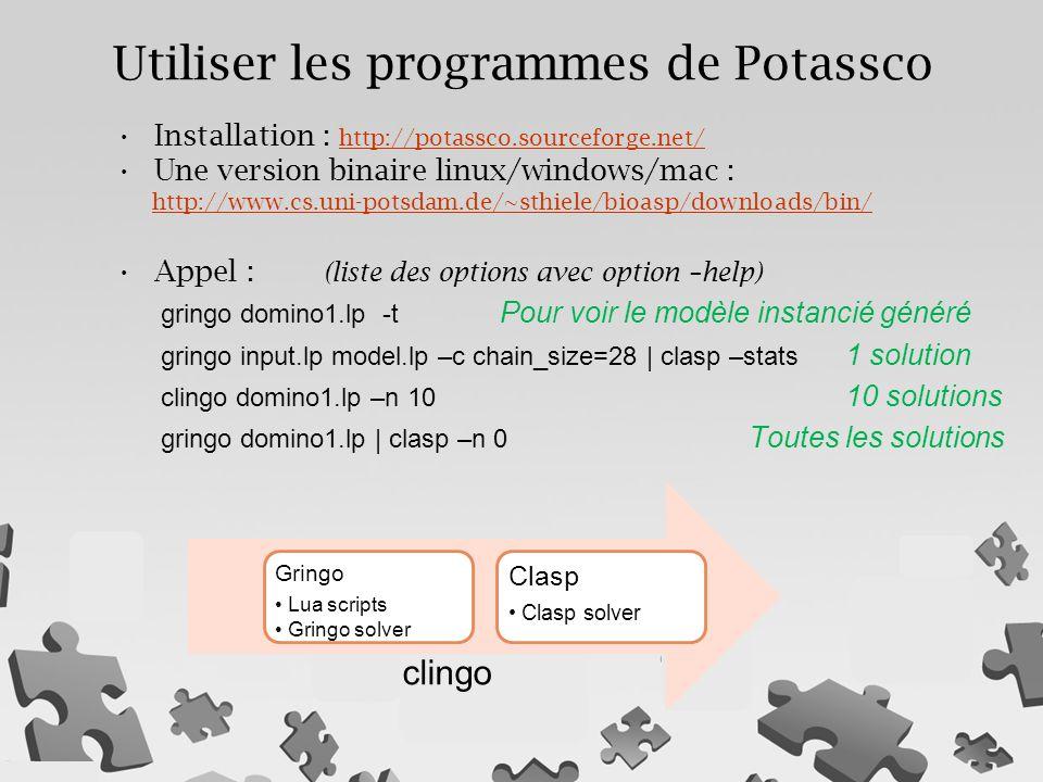 Utiliser les programmes de Potassco
