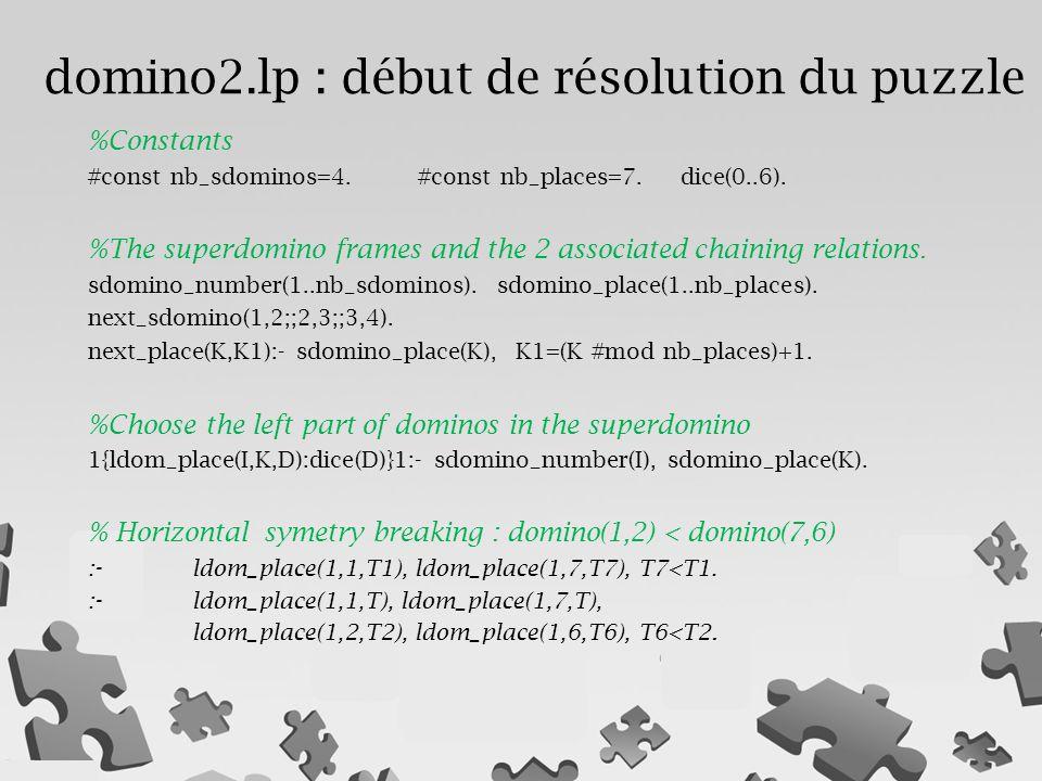 domino2.lp : début de résolution du puzzle