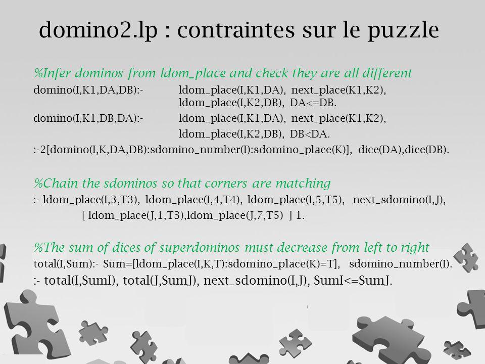 domino2.lp : contraintes sur le puzzle
