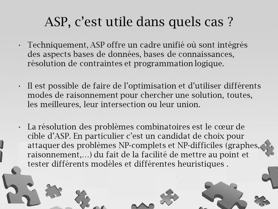 ASP, c'est utile dans quels cas