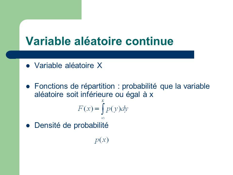 Variable aléatoire continue