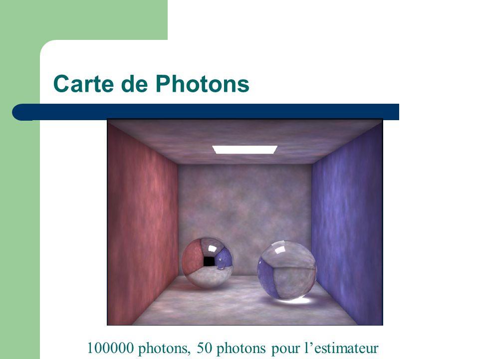 Carte de Photons 100000 photons, 50 photons pour l'estimateur