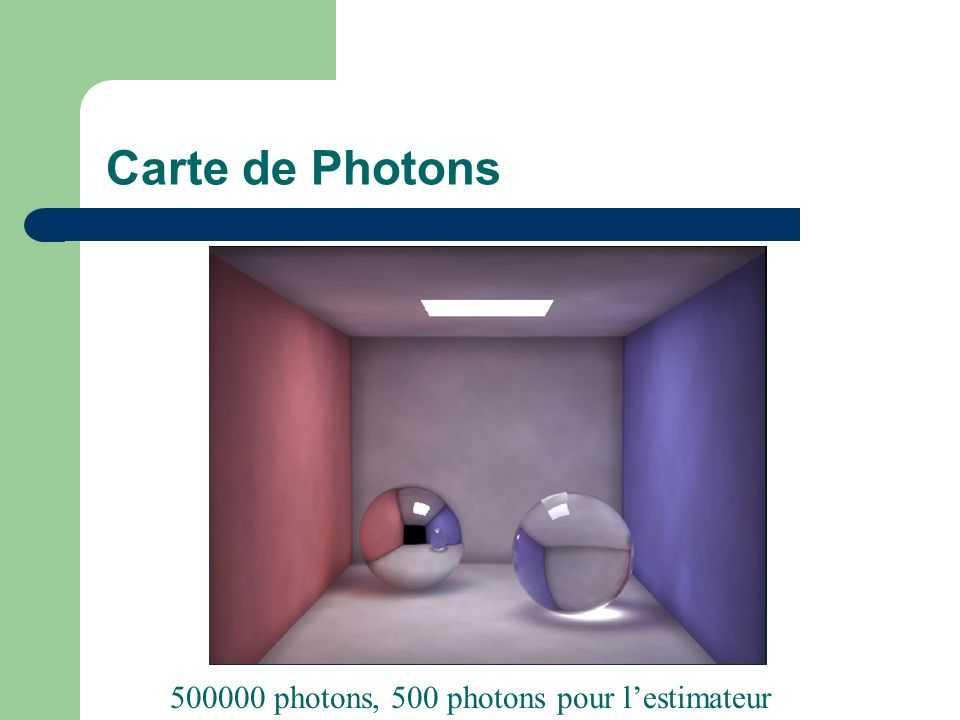 Carte de Photons 500000 photons, 500 photons pour l'estimateur