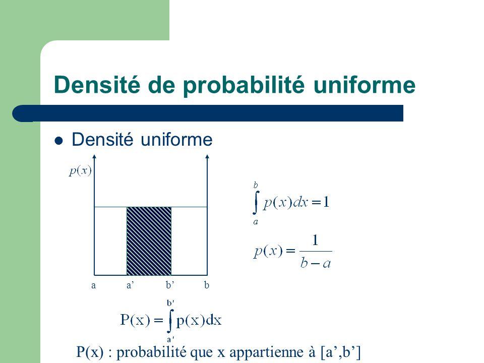 Densité de probabilité uniforme