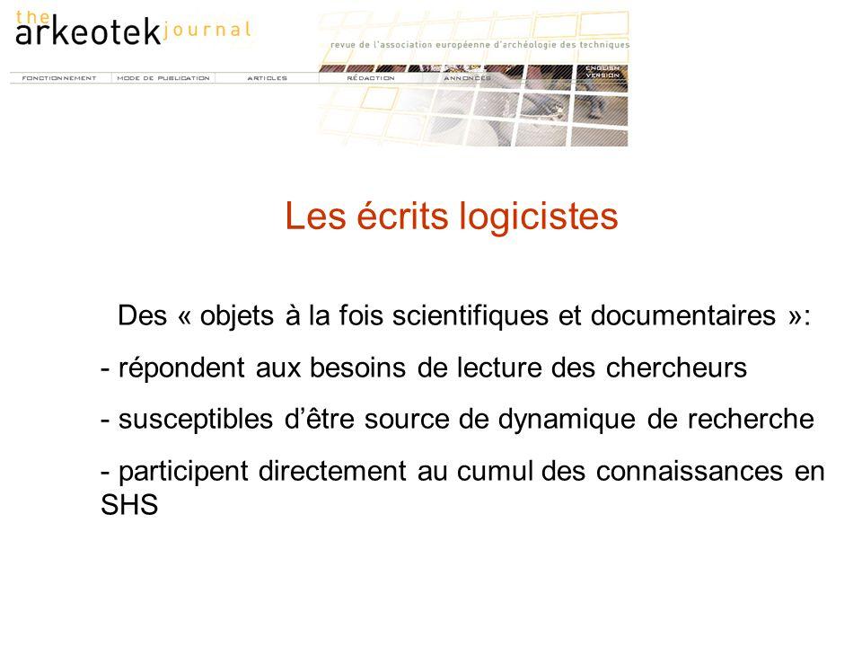 Des « objets à la fois scientifiques et documentaires »: