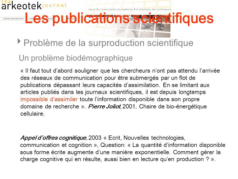 Les publications scientifiques