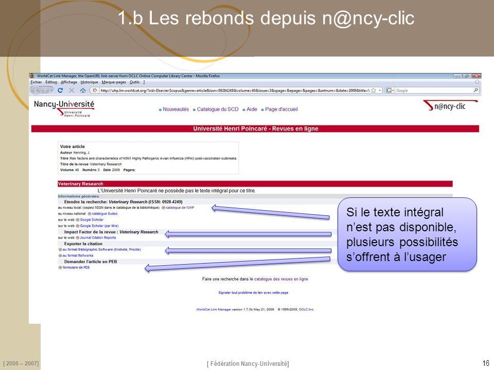 1.b Les rebonds depuis n@ncy-clic