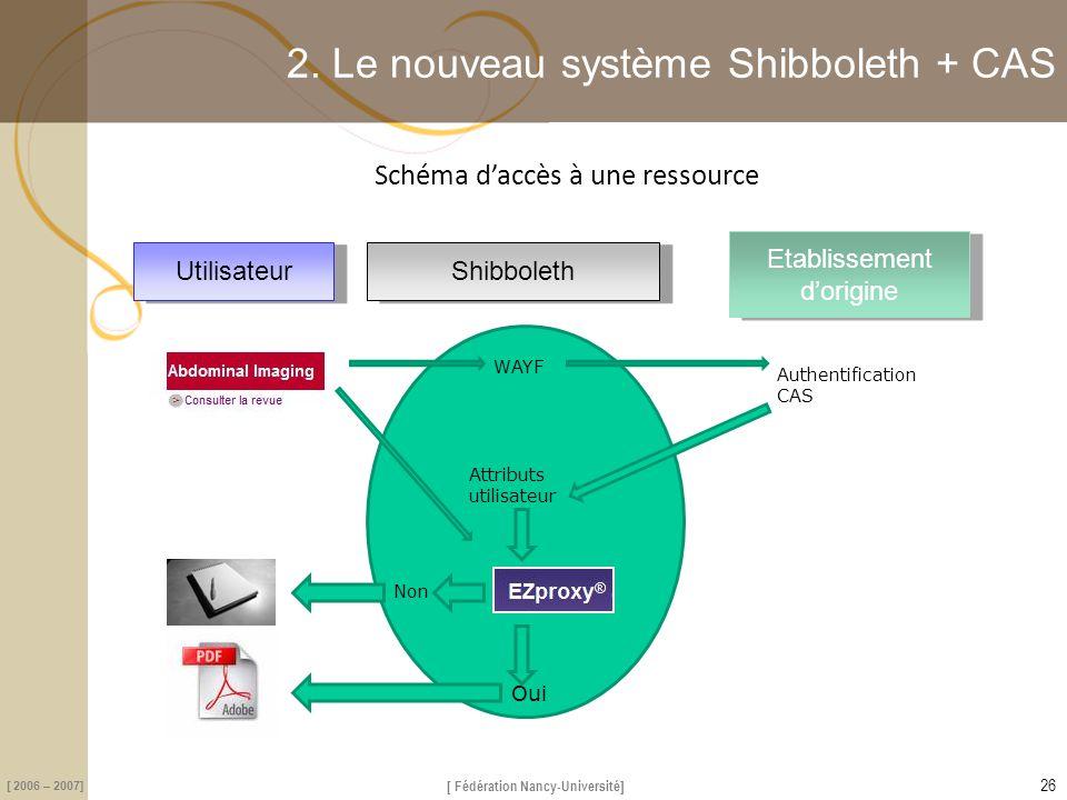 2. Le nouveau système Shibboleth + CAS