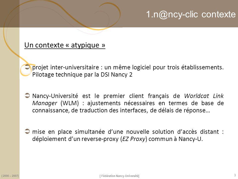 1.n@ncy-clic contexte Un contexte « atypique »