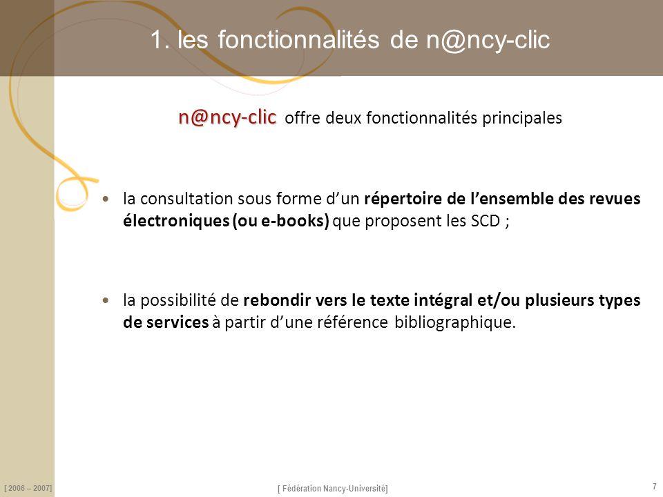1. les fonctionnalités de n@ncy-clic