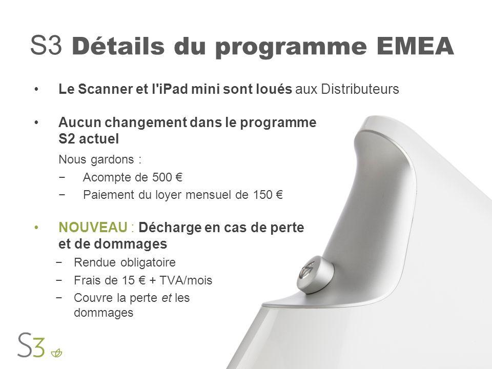 S3 Détails du programme EMEA