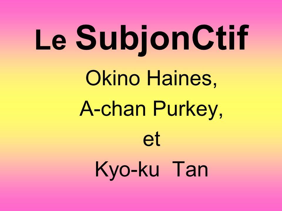 Okino Haines, A-chan Purkey, et Kyo-ku Tan
