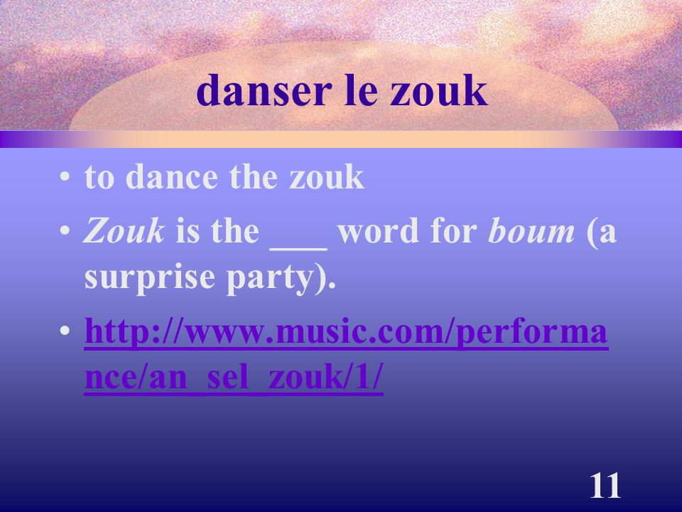 danser le zouk to dance the zouk