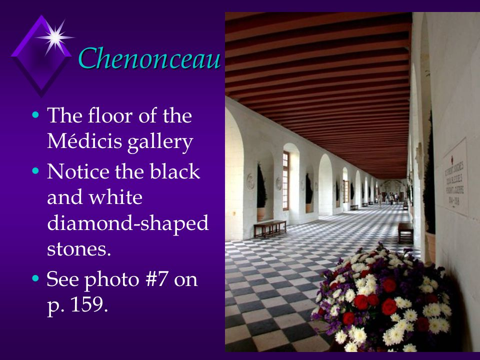 Chenonceau The floor of the Médicis gallery