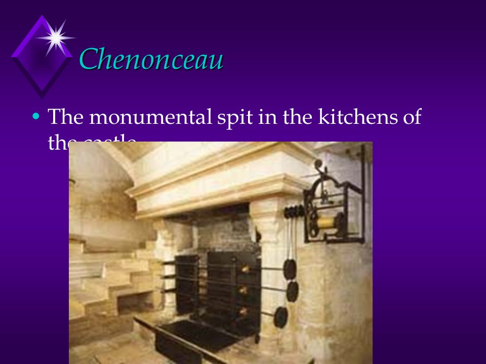 Chenonceau The monumental spit in the kitchens of the castle