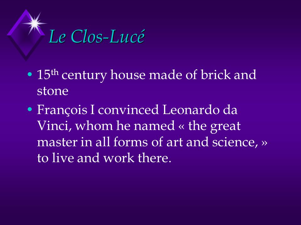 Le Clos-Lucé 15th century house made of brick and stone