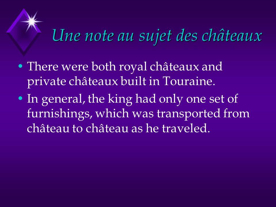 Une note au sujet des châteaux