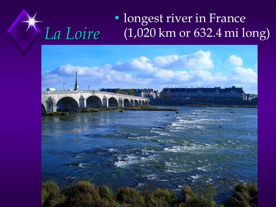 longest river in France (1,020 km or 632.4 mi long)