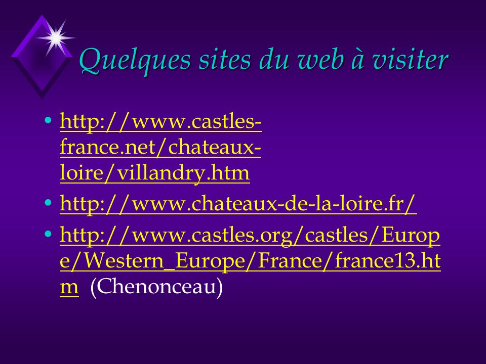 Quelques sites du web à visiter