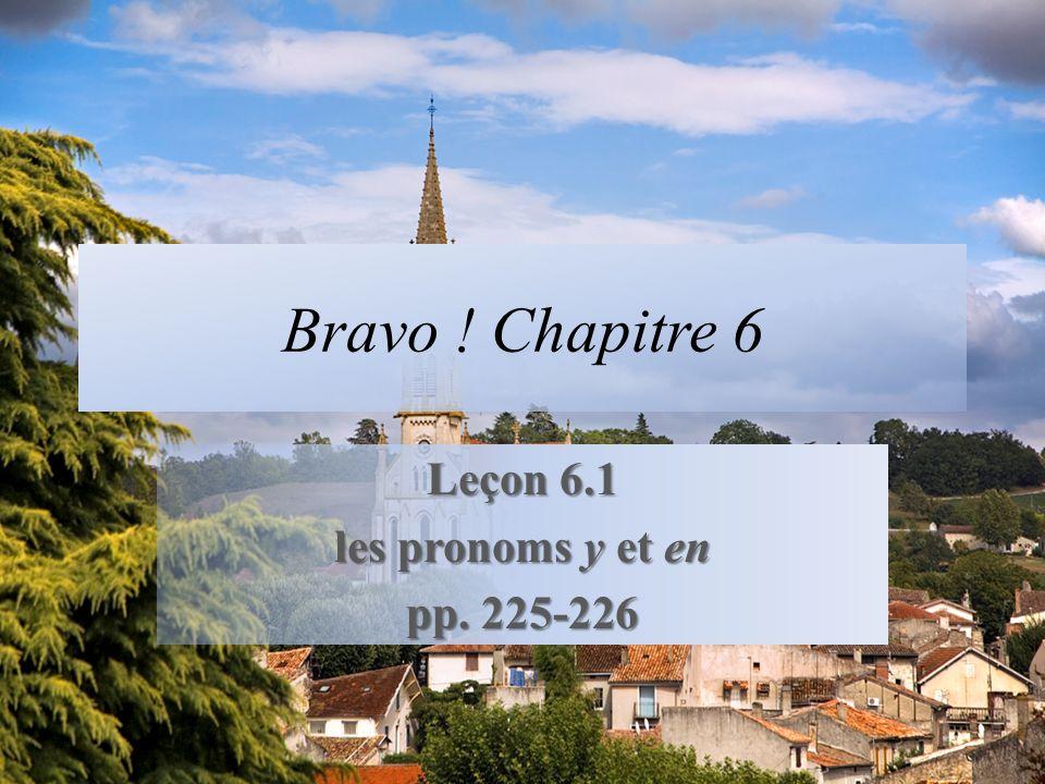Leçon 6.1 les pronoms y et en pp. 225-226