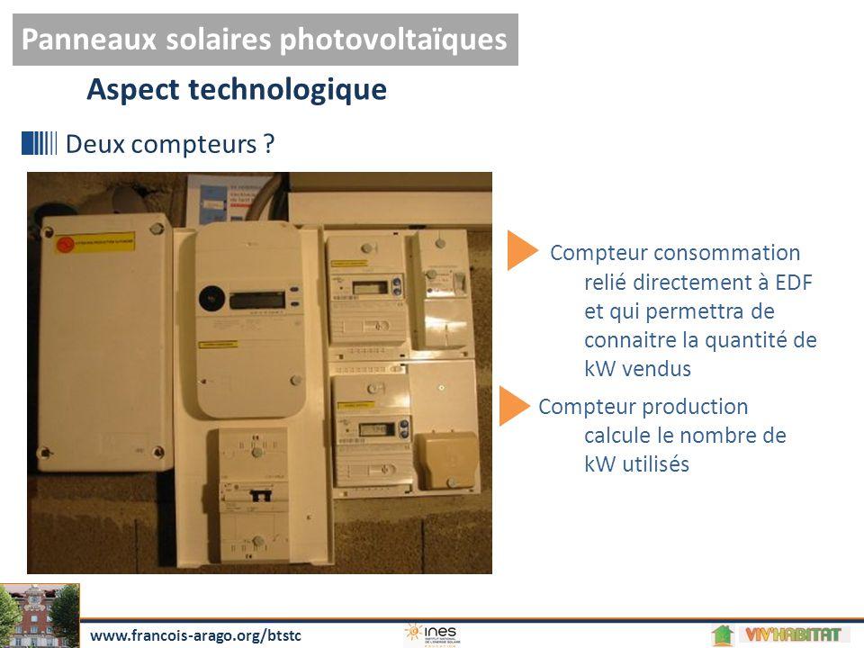 Panneaux solaires photovoltaïques Aspect technologique