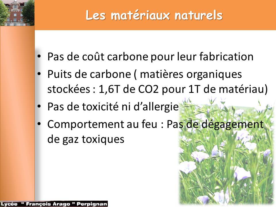 Les matériaux naturels