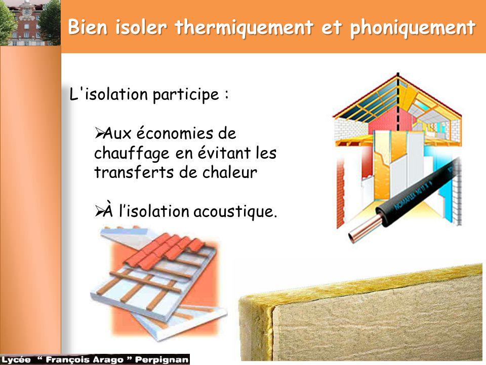 Bien isoler thermiquement et phoniquement