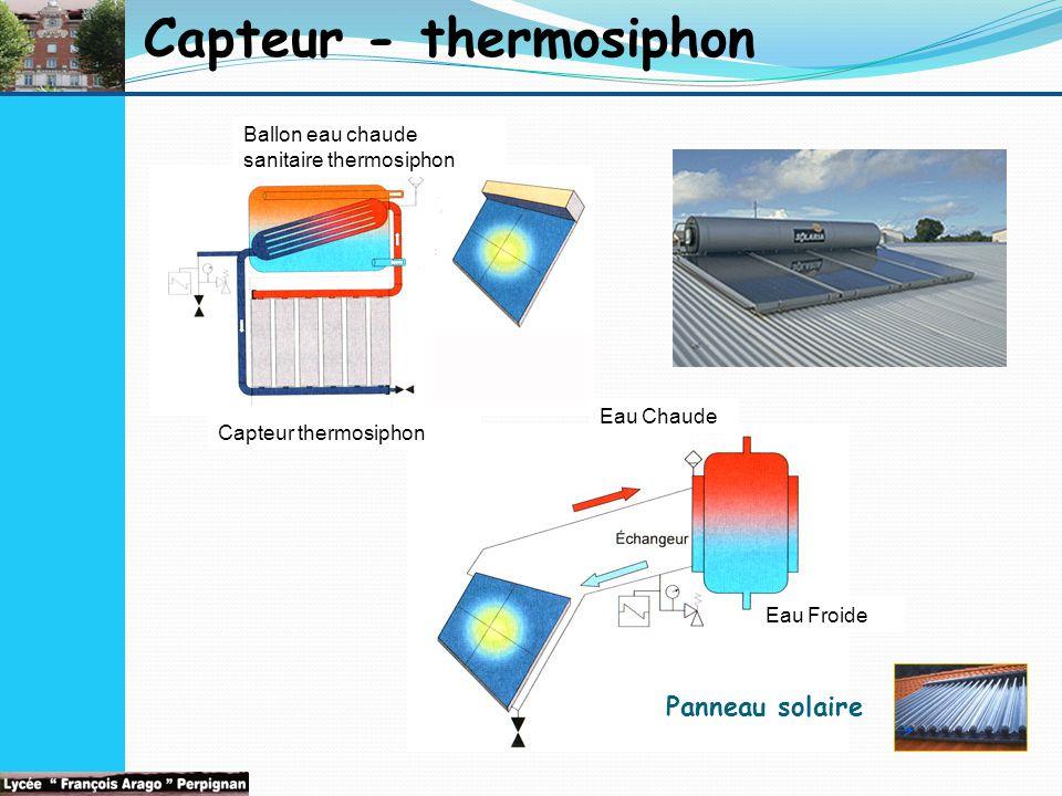 Capteur - thermosiphon