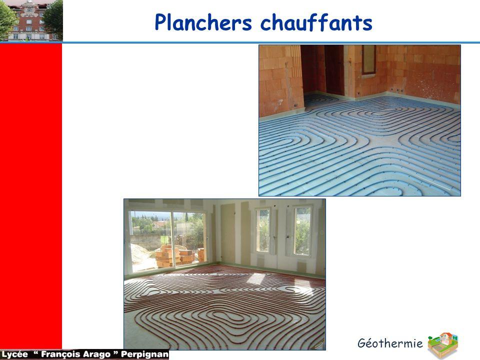 Planchers chauffants Géothermie