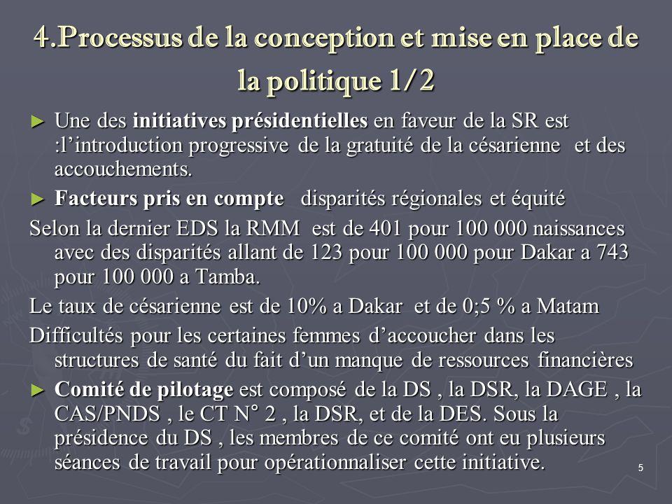 4.Processus de la conception et mise en place de la politique 1/2