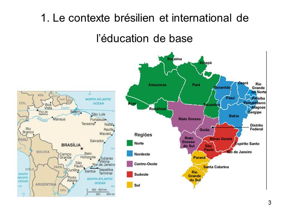 1. Le contexte brésilien et international de l'éducation de base