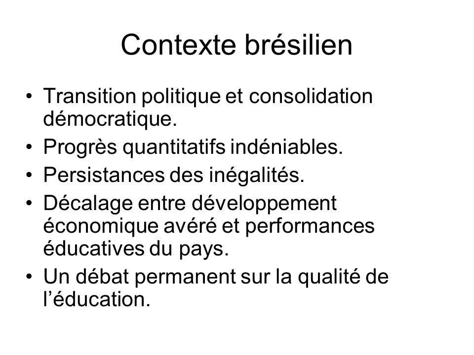 Contexte brésilien Transition politique et consolidation démocratique.