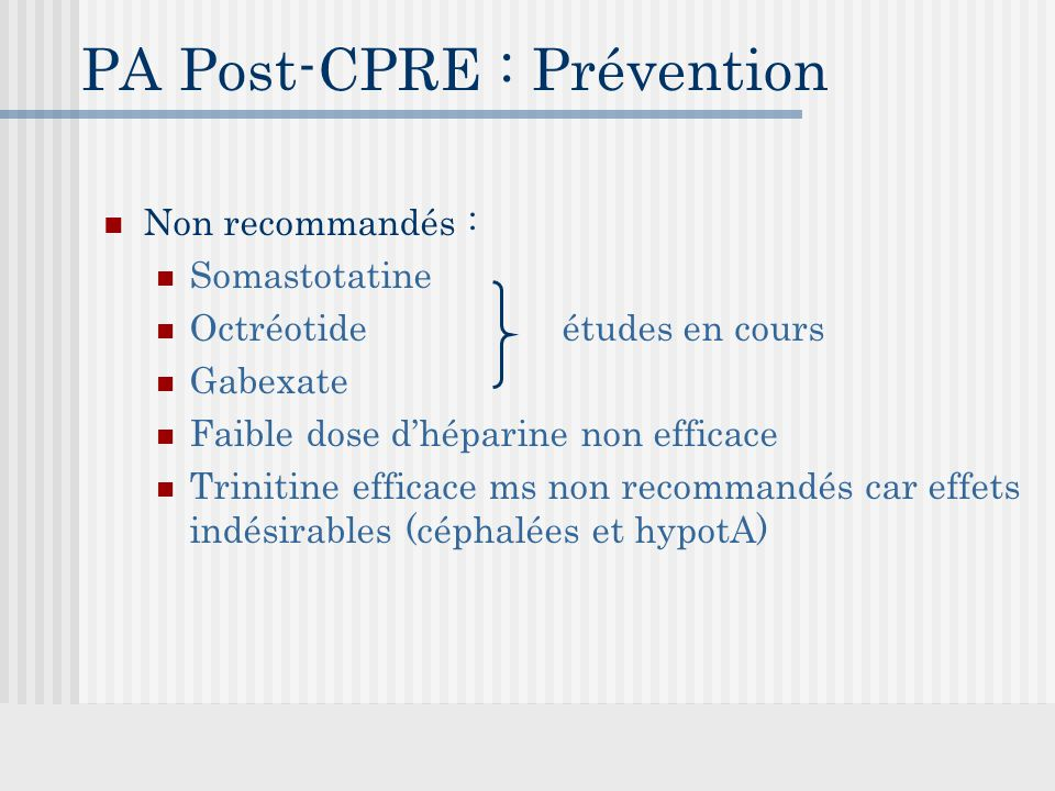PA Post-CPRE : Prévention