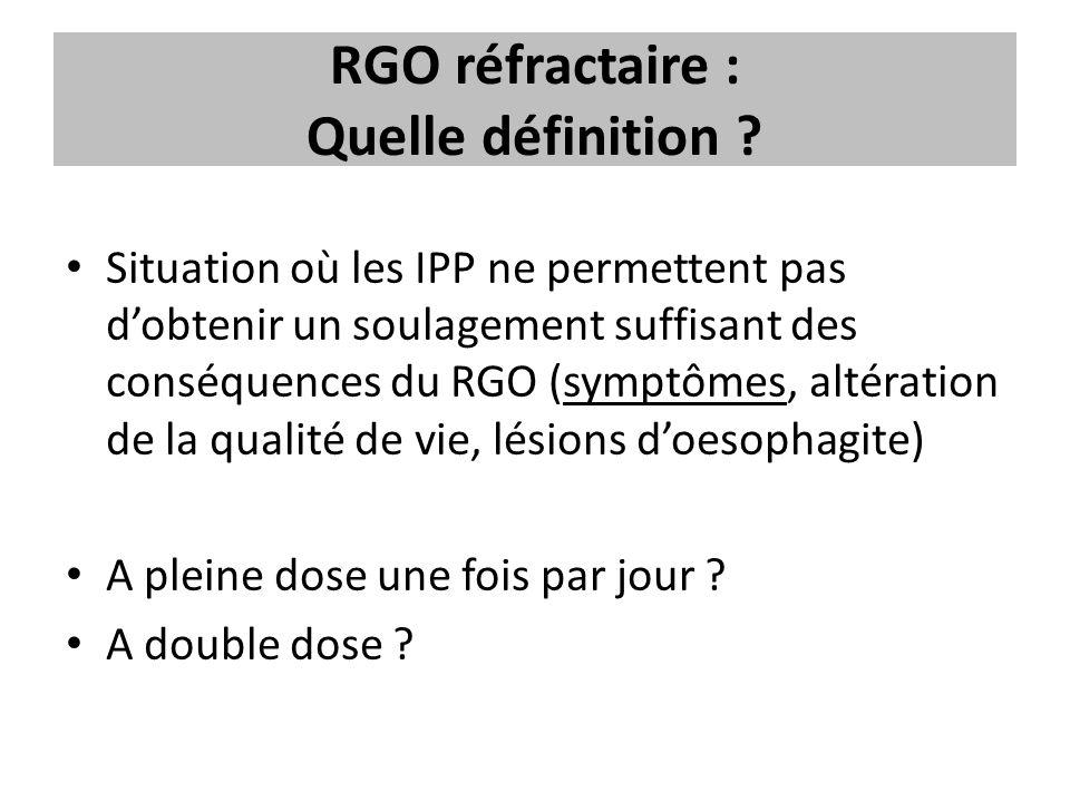 RGO réfractaire : Quelle définition