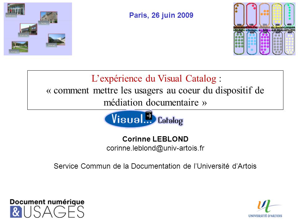 L'expérience du Visual Catalog :