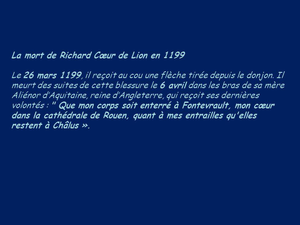 La mort de Richard Cœur de Lion en 1199
