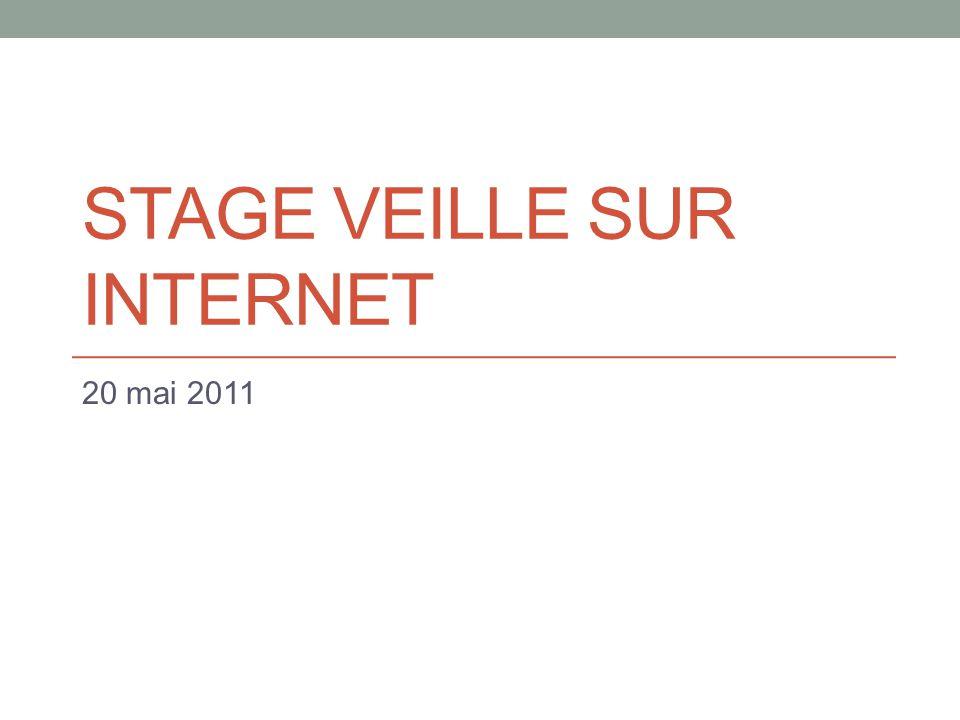 Stage Veille sur Internet