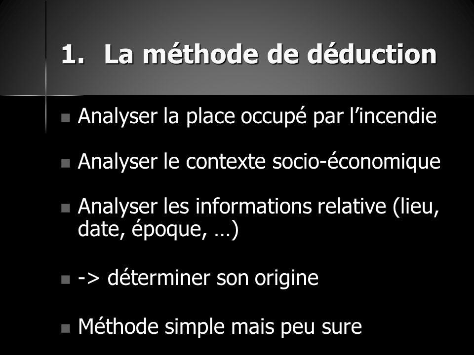 La méthode de déduction