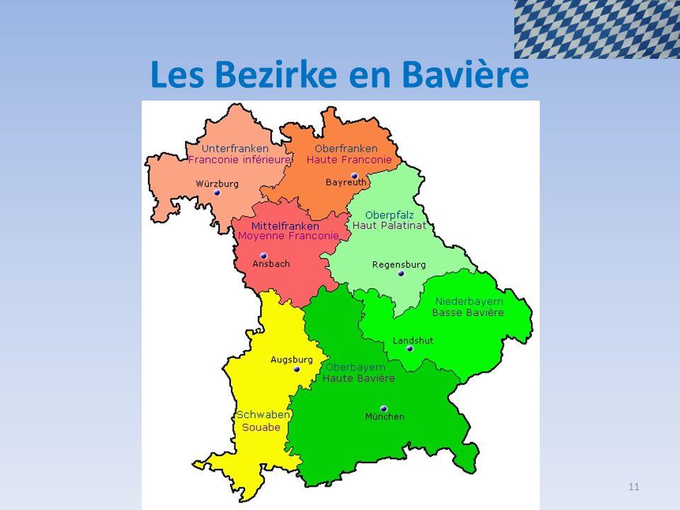 Les Bezirke en Bavière