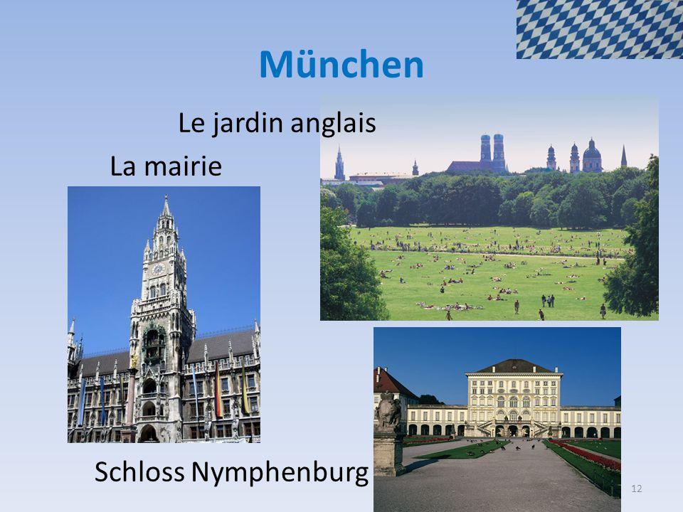 München Le jardin anglais La mairie Schloss Nymphenburg